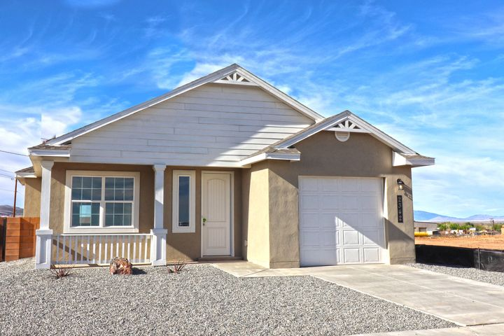 Westway Homes Introduces the Opal in De La Reina! This is Belen's newest community and offers 5 great floor plans to accommodate all needs. The Opal is a two bedroom, 1 bath open floor plan. The living area is all tile and the kitchen features granite counter tops and GE appliances. The bath includes tile on the floors and tile surround in the tub/shower with granite counter tops. Come be a part of Belen's newest community.