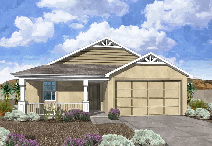 Westway Homes Introduces the Agate in De La Reina! This is Belen's newest community and offers 5 great floor plans to accommodate all needs. The Opal is a 3 bedroom, 2 bath open floor plan. The living area is all tile and the kitchen features granite counter tops and GE appliances. The bath includes tile on the floors and tile surround in the tub/shower with granite counter tops. Come be a part of Belen's newest community.