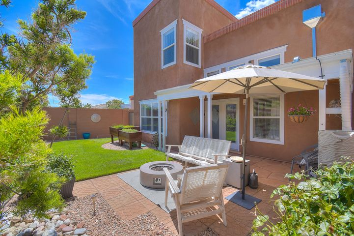 Welcome home to Aerie at High Desert! This Stunning home shows pride of ownership and is LIGHT and BRIGHT with a feel-good ambience. Unique territorial-style construction featuring radiant heat, a downstairs Bedroom or office with adjacent 3/4 bath and a BRAND NEW TPO roof.  The cook's kitchen is open and light with windows overlooking a private courtyard.  Enjoy the views from the Spacious master suite which is complemented by the spa garden tub and separate shower w/large walk-in closet. Enjoy the reading/computer loft that has lots of natural light that separates the upstair bedrooms.  Step out to the large deck and take in the views and city lights. Perfect backyard setting for entertaining and/or your peaceful enjoyment!  Close to hiking/biking trails.  Schedule your tour TODAY!