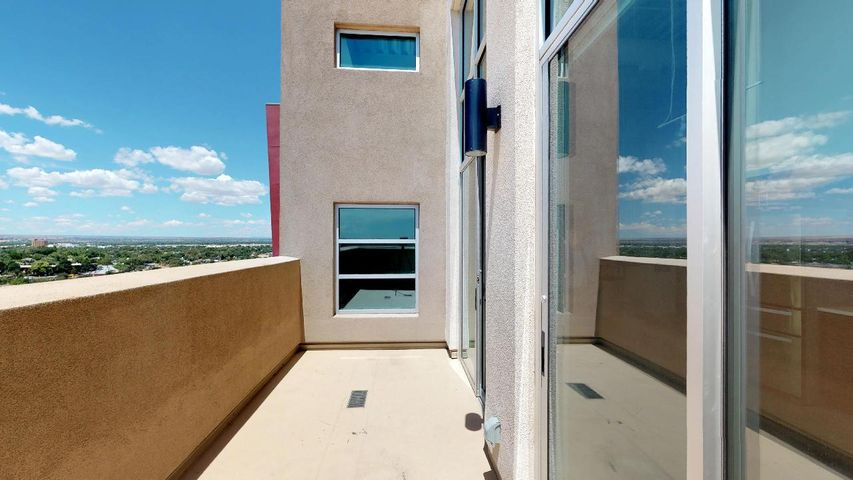Unique opportunity to own a Penthouse in Downtown Albuquerque with amazing views!The Anasazi building on the corner of Central and 6th is a modern contemporary building with innovative design.This penthouse has a unique loft design that takes advantage of views from both levels. I'll let the photos speak for themselves!