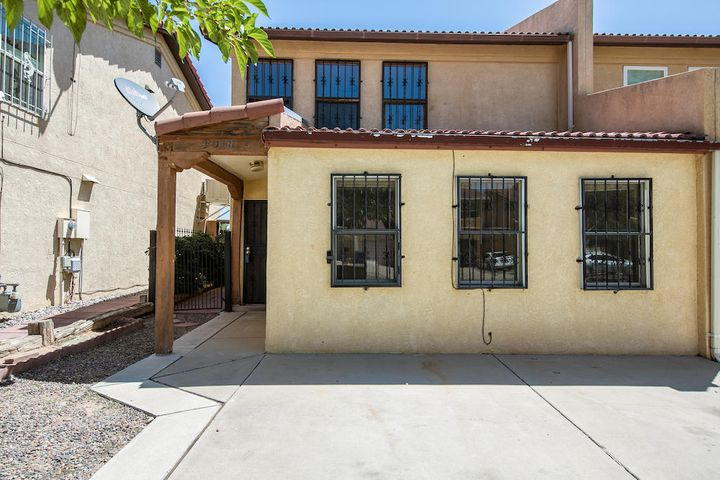 Great investment opportunity! No HOA. Priced to sell and move in ready. This Townhome needs some TLC but you could be walking into instant equity. Freshly sealed Saltillo Tile, Laminate wood floors, refrigerator, washer and dryer and private backyard. Home is being sold AS-IS. No repairs will be made for any reason. Come and see it before its gone.