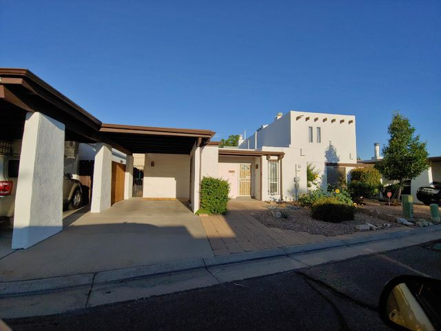 Wonderfully updated one story with refrigerated air, newer roof, skylights, vinyl windows, updated baths, wood burning fireplace, repainted inside to neutral colors, no carpet, tile everywhere. Super convenient location near shopping freeways, golf, you name it. Quiet street and has community swimming pool, storage for RV, HOA is $135/mo, covers water and trash, front yard maintenance. Wont last.