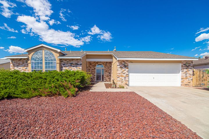 Beautiful single story home located in the desirable Rivers Edge in Rio Rancho on almost a quarter acre lot near Corrales. This stunning property has  a large living room with lots of natural light, built in entertainment center, cozy fireplace and an office or possible 5th bedroom. Kitchen features large breakfast nook and kitchen island with access to the covered patio where you will enjoy a beautiful sparkling pool 24' X 12' with deck perfect for those hot summer days and fully landscaped to enjoy the great outdoors. Home comes with refrigerated air, storage, side yard access and roof replaced around 2013-2014, newer water heater and garage opener. This home is in a great location and is ready to call home. Call today for your private tour.