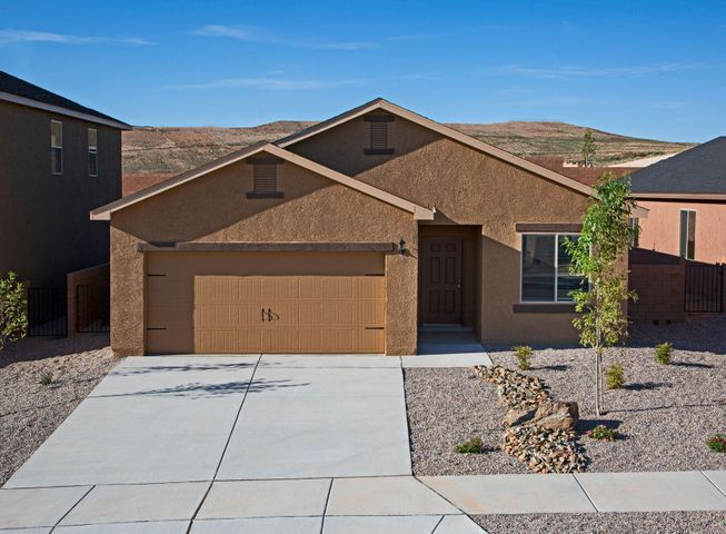 The Ajo, by LGI Homes, is located within the picturesque community of Entrada at High Range. This beautiful, new one story home features an open floor plan, 3 bedrooms and 2 full baths. This new home comes with over $10,000 in upgrades including energy efficient kitchen appliances, granite countertops, custom wood cabinets, brushed nickel hardware and an attached two car garage. The Ajo showcases a master suite complete with a walk-in closet, as well as a fully fenced backyard, large covered patio and front yard landscaping.