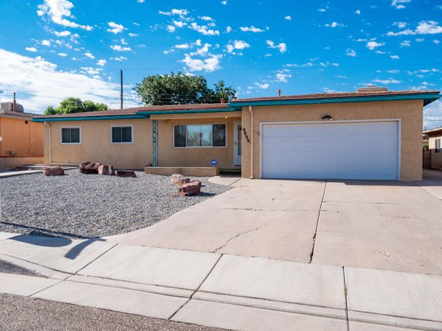 This is a wonderfully well kept mid century modern home with all the upgrades in all the right places. 3 Bedrooms, 2 Bathrooms, 2 Car Garage, 2 Wood Burning Fireplaces, & 2 Living Areas. Large Kitchen includes a large pantry w/ALL APPLIANCES and overlooks one of the two living areas. The home is approximately 1956 Square Feet sitting on approximately .17 acres of well manicured back/front yard landscaping. Updates include: Updated Metal Roof, Beautiful Hand Made Wood Cabinets w/Sliders, Updated REFRIGERATED Air, Updated Water Heater, Updated Furnace, Updated Electrical Service, Updated Garage Door, Updated Stucco, Updated/Maintained Windows, Block Walled Backyard, Updated Gutter System, RV Parking and Updated Bathrooms. If that wasn't enough the washer/dryer are also included. Come on by!!