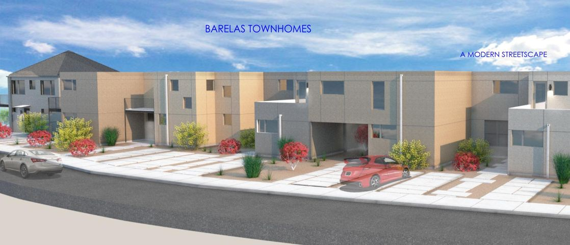 Contemporary Urban Living at its Best  Energy Efficient, Ergonomic, Smart Design! This Proposed Construction features 2 Bedrooms and 2 Baths; Bamboo hardwood flooring. Large windows and doors. Indoor/outdoor feeling. Great backyard and deck off the stairs. 'Dwell'ish designer style and finishes. Barelas neighborhood, near Bosque, Zoo, Barelas Coffee House, Hispanic Cultural Center, Downtown, easy access to the Lobos, Isotopes and other sporting events, I25 via Bridge Street. Near new mixed use development at the corner of 4th and Coal, new event center on 4th & new planned development at B Ruppe Drugs. Barelas--its happening! 100% Financing Available and up to $4500 to the Buyer in Closing Costs.