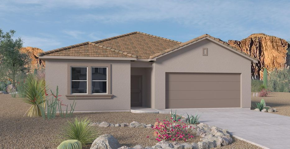 Another Beautiful New Never Lived in Home. Our newly designed ''Jordyn''. An incredible 1-story with a dream kitchen. This 4 Bedroom home has Granite kitchen counter tops, Gas Appliances, Master Suite with tiled shower and a Gas Fireplace. Come see our most anticipated community in SE Albuquerque, Close to ABQ Uptown , I-40, entertainment, restaurants, and the Base