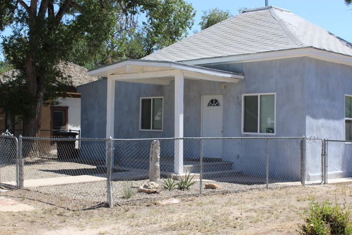 This recently remodeled home is located in heart of Estancia, one block from the city park, pool, and county fair grounds. The home boasts hand cut beams from the local forests, all new flooring, new stove, and dishwasher is to be added soon.  For a small town there is plenty to do, Old Timers Rodeo, County Fair, Punkin Chunck'in, the list goes on and on.  Come see this beautiful home and give small town living a chance.