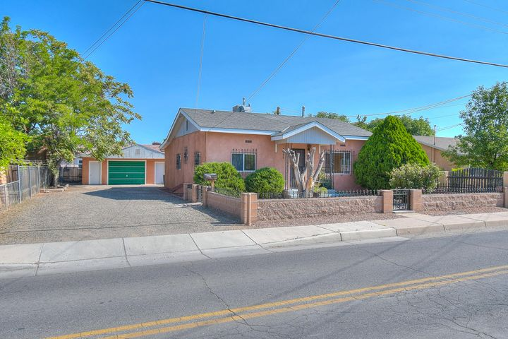 Don't miss your opportunity to own this lovely home in historic Old Town! This home features 3 bedrooms 2 bathrooms in the main home  with new paint, new carpet and tastefully updated kitchen, THIS PROPERTY HAS A DETACHED CASITA!!! The casita features 1 bedroom 1 bathroom with new carpet new paint and 1 car attached garage. Front yard lovingly cared for.  Fresh and ready for your buyer! Close to dining, entertainment, and located in the heart of Albuquerque. Home is within walking distance to the Albuquerque Aquarium, Tingley Beach, and The Natural History Museum!  Schedule your showing today!