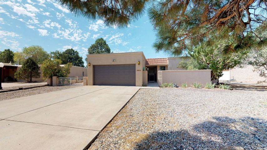 Charm abounds in this single level home on a cul-de-sac that backs to Tierra del Sol golf course.  French doors open from the huge tiled sunroom to the covered back patio - perfect for entertaining.  The patio is stone and has raised planters and outside lighting and electricity.  The living room is large with sliders to the sunroom, a fireplace and a ''zen'' rock garden with fountain.  Kitchen has a breakfast nook and includes all appliances.  The master bedroom is very large with a fireplace and sliders to the sunroom, plus a dressing room and good sized master bath.  Bedroom 2 has access to the hall bath.  There is an entry courtyard.  Roof 3 yrs old w/a transferable warranty.  Newer skylights.  A perfect retreat, great for entertaining and on the golf course.  Sellers are motivated.