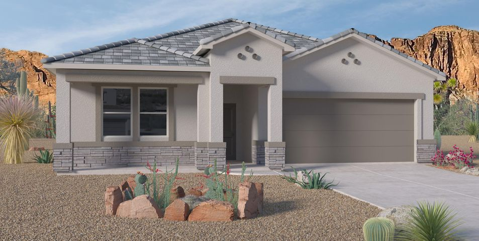 Another Beautiful New Never Lived in Home. Our newly designed ''Jordyn''. An incredible 1-story with an accented stone exterior and a dream kitchen. This 4 Bedroom home has Granite kitchen counter tops, our popular Silver Lining color package, Gas Appliances, Master Suite with separate tub tiled shower. Come see our beautiful community in SE Albuquerque, Close to ABQ Uptown , I-40, entertainment, restaurants, and the Kirkland base