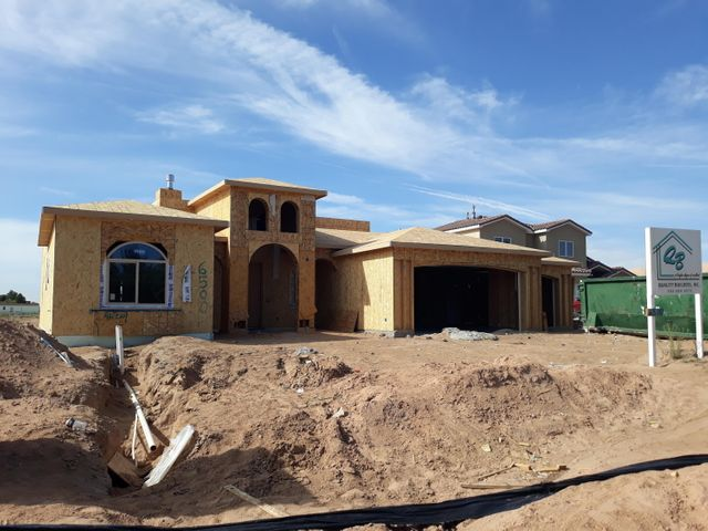 Currently under construction. Perfect time to choose your finishes. Super versatile floor plan. Covered front and back porches. Unobstructed view of the Sandias. 3 car garage. Master bathroom has walk in snail shaped shower and a closet to fit everything. No HOA or PID.  Quality Builders ''A Higher Degree of Excellence''.