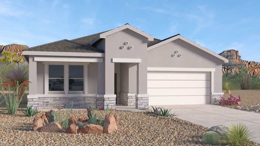 New Home in Volterra, A beautiful community with so much to offer in SE ABQ.  This Never Lived in Home is our newly designed ''Logan''. An incredible 1-story with a dream kitchen and spacious entry. This 4 Bedroom plus Study-3 Bathroom home has Granite kitchen counter tops, Gas Appliances, Master Suite with tiled shower. Close to Color package similar to the new model home. ABQ Uptown , I-40, entertainment, restaurants, and Kirkland AF Base.