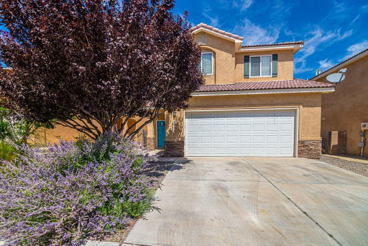 Welcome home to a beautifully remodeled, modern home on Albuquerque's westside.  You will love the views of the mountains and watching the hot air balloons from your back yard.  Enjoy the balcony in the evening watching the sunset or eating dinner out on the patio with a great view! The kitchen boasts taller cabinets and a ton of storage, soft close door and drawers and the large kitchen island.The home has two separate living areas downstairs and huge bedrooms upstairs.The master bath has a spa like feel with a walk-in shower and large vanity area. No carpet!  Wood and tile though-out to help keep allergies to a minimum!Spacious laundry room and with plenty of storage.Xeriscape yard means less maintenance and more time to enjoy it the nearby walking trails and the parks.