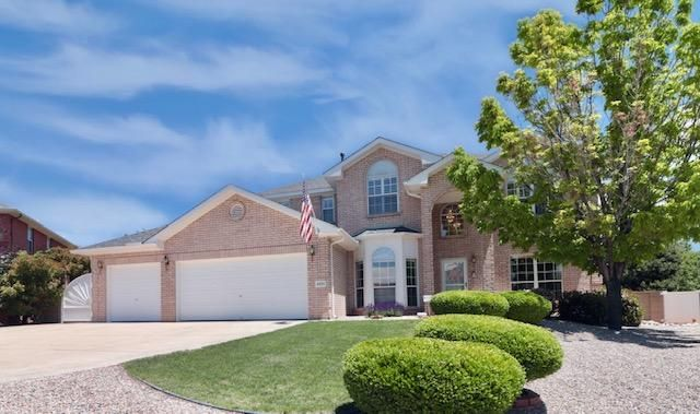 This gorgeous brick home with REFRIGERATED AIR on meticulously landscaped premium 1/4 acre cul-de-sac lot is the ''creme de la creme'' in this tucked-in neighborhood by Paradise Hills Golf Course!. Enjoy sunrise/sunset mountain-city views from the 27 ft. balcony off Master. Got outdoor toys? 3-car garage w/epoxy floor, RV pad, back-yard access--no need to store off-site.  Too many upgrades and amenities to list but here's a few: NEW ROOF-2019, fresh interior paint thru-out, wood-plank tile flooring main living areas, baths & master suite, upgraded kitchen with painted white cabinets, white brick backsplash, granite counters, new glass cook-top. Paradise awaits you outside! Grass, trees, bushes, waterfall/pond, patios--just plain stunning & relaxing!