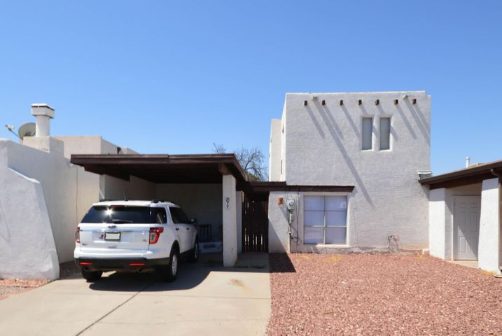 This recently updated townhome shows well and is in move in condition. Large first floor living room, dining room and kitchen with tile countertops and back splash, microwave and smooth top electric stove. Home has 3 spacious bedrooms and bath upstairs. Home has been recently painted and the floors have been tiled throughout (no carpet). Fenced and gated yard with storage. Nice neighborhood with community pool and park. Home is a short distance to dinning and shopping and has quick access to freeway. Seller will replace roof with acceptable offer.