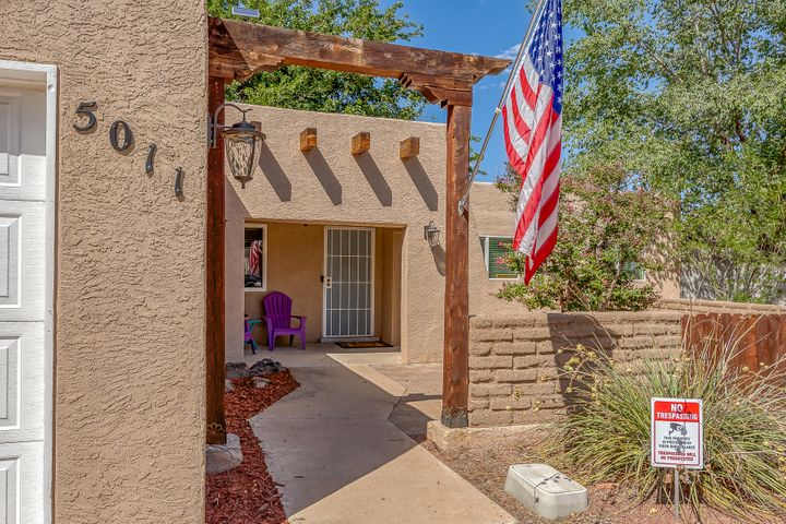 **PRICE IMPROVEMENT** Welcome Home! The  pride of ownership in this home shows!  Newer items include: Refrigerated air, furnace, windows, water heater (2016), stucco & roof. New beautiful granite counter tops with under mount sink and freshened up kitchen is beautiful with bar seating and all stainless steel appliances. This home offers lots of space and storage with 3 good size bedrooms. Large backyard with mature trees you can enjoy year round! Don't forget the backyard access (measurements 8.5 ft from fence to gas meter by 57ft long) for your outdoor needs! Near restaurants, shopping, movie theater, groceries stores. Washer & Dryer convey also!! Carpet allowance offered with reasonable offer!