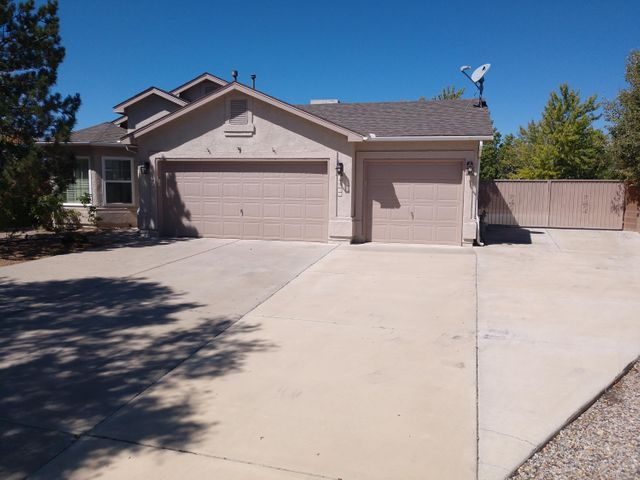 Charming 3 bdrm, 2 ba at end of cul-d-sac on huge lot, 3 car garage, with RV pad & hook-up Enjoy this beautiful backyard with outdoor living area
