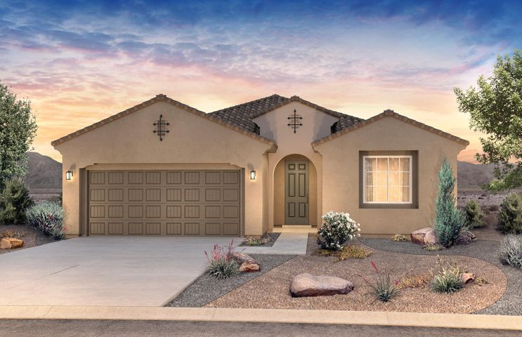 Beautiful Darden for sale in the sought after NE Community.  La Cueva school district in gated community.  Open floorplan, chef kitchen, with quartz countertops in kitchen and stainless steal appliances. Plenty of storage in the oversized 2 1/2 car garage.   This home is complete November 2019.