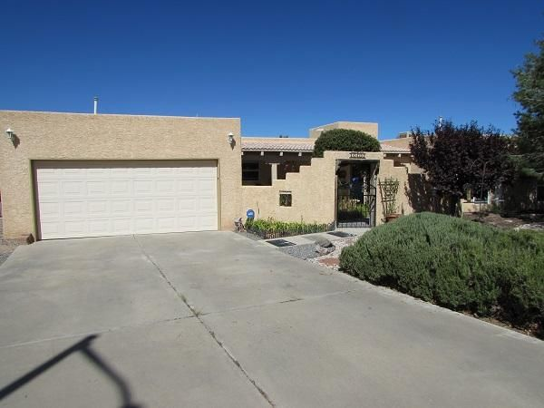 This Beautiful, Secluded Home is located in the prestigious Crest View subdivision in the Village of Los Lunas. The Home sits on almost a half an acre with three bedrooms two and a half baths, two living areas, two open patios, two courtyard, backyard access and a detached structure that can be used as another garage, art studio or converted into that extra space for company. This updated open kitchen has two pantry's, a new counter top & a kitchenette for quick dining. The roof on the Home was replaced in 2016, water heater replaced in 2015 and the detached structures TPO roof was replaced in 2018. The Home has two evaporate cooling units for fresh air all summer. This Home has a large lot with back yard access for your RV or Boat. Come live the quiet secluded Dream in Crestview.