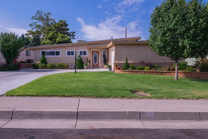 Move In Ready NE Heights Home! Located in a quiet neighborhood with easy access to I-25 and the rest of Albuquerque. This well cared for home features a beautiful kitchen with stainless steel appliances, a large living area, and a fully landscaped front and backyard.