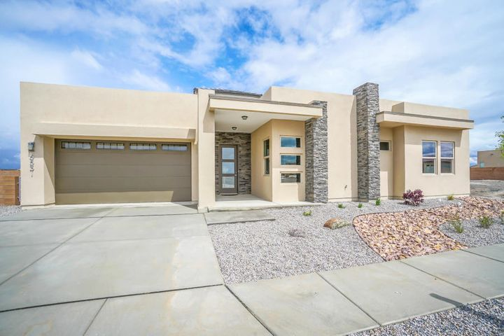 Up to $5,000 in closing costs! Stunning Rhett Ashley, single story, contemporary beauty located in the Petroglyoh Estates community! NO HOA or PIDS! Home features 2,418sf with 3 bedrooms, 2 bathrooms and a 2 car garage. Great open floorplan with wood look tile throughout the main living spaces. Spacious living area w/ raised ceilings and a gas fireplace. Chefs kitchen with quartz countertops, backsplash, stainless steel GE Profile appliances, range hood, center island with seating space, custom pendant lighting, breakfast nook and pantry! Elegant master bath with built in shelves, trayed ceiling and outdoor access. Step through the barn door into the luxurious master bath. Bath hosts dual sinks, a relaxing free standing tub, walk-in shower with tile surround & walk-in closet w/ built-ins!