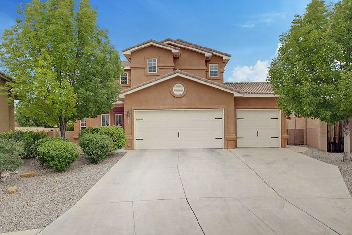 This 4-bedroom, 2.5 bathroom home has many upgrades.  As you walk through the door, you can see that the owners have taken well care of the home.  The wood floors are a custom hand scraped Elm.  The open floorpan has a formal living area, large dining, large kitchen opened to the family room.  The kitchen has a large island and stainless steel appliances.  The family room is pre-wired for surround sound and is equipped with a custom pallet stove.  The stairs are finished with the hand scraped wood floors.  The carpet is well cared.  The 4-bedrooms are located upstairs, and there is a finished walk out balcony from the master suite.  the home has a 3-car garage that is on this oversized lot.  The owners have made many improvements to list, so COME and MAKE an OFFER!!!