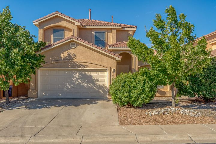 Large home in La Cueva school district. Secure gated community. 5 bedroom 3 bath, 2 living areas, open floor plan. Sandia Mountain views from deck! Upon entry into foyer you''ll see sitting room and dining on right. Leads to open kitchen area and large family room. 1 bedroom downstairs and 4 upstairs. Priced to sell quickly!
