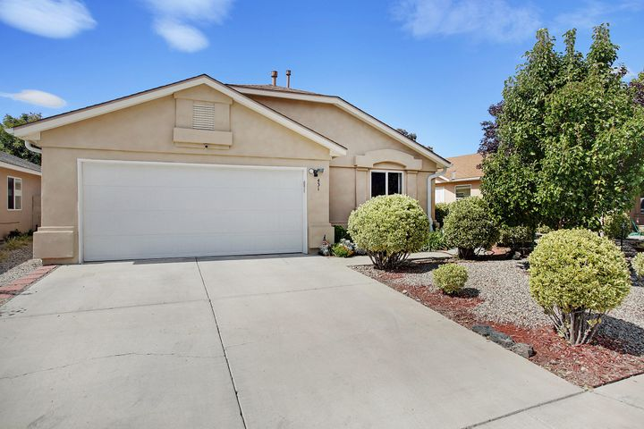 Fantastic 1700 Sq Ft. Ranch in a wonderful Neighborhood. New roof in 2018, New Appliances Refrigerator Included, New Garage door and Opener, New ADT security system, NEW NEW NEW You get the Idea. Come take a look at this one!Master retreat with a 5 piece bath and walk in closet is the perfect getaway.Open Kitchen with a view of the Sandia's this very comfortable ranch is move in ready!  Special Financing Incentives Available on this property from SIRVA's preferred lender.