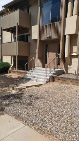 HUD Case # 361-302691 HUD Homes are sold '' AS IS'' To submit offers go to: HUDHOMESTORE.ComVery Rare 3 Bed / 2 bath Condo great for families. Fireplace, dining room, Club House, Community Pool,   24 / 7 Security.  Gated Community. You will need a gate code to enter the Gated Community and to enter the building unit  #1401----       see LO / SO remarks.HOA Dues cover gas, water, sewer, trash, roof, building exterior and common areas. Located in the heart of Albuquerque  just East of Carlisle / Montgomery Blvd NE, just minutes from  restaurants, shopping, medical, and I-25