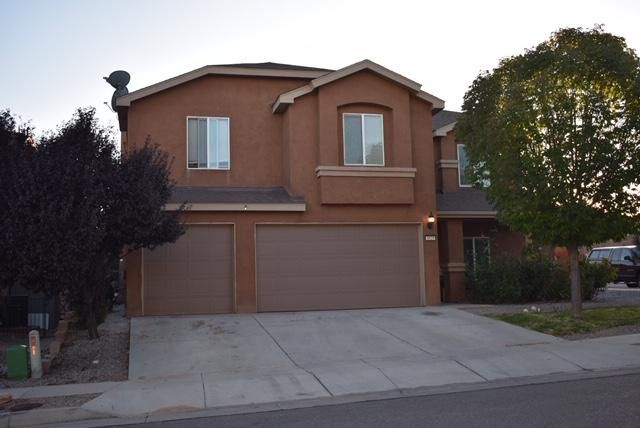 This charming Pulte home is nestled on a quiet, dead-end street in the heart of Los Lunas. Plenty of space with 5 (possible 6!) bedrooms, 4 bathrooms, and a 3-car garage. The home is complete with premium tile, refrigerated air, and a gas log fireplace. Take advantage of the huge backyard patio while relaxing or entertaining your guests. You'll love the raised garden beds, mature privacy trees, and the spacious storage shed. All this and only minutes to downtown Albuquerque, plus a $2,000 flooring allowance to an acceptable offer! Come and see this home before it's too late. The time to buy is now!
