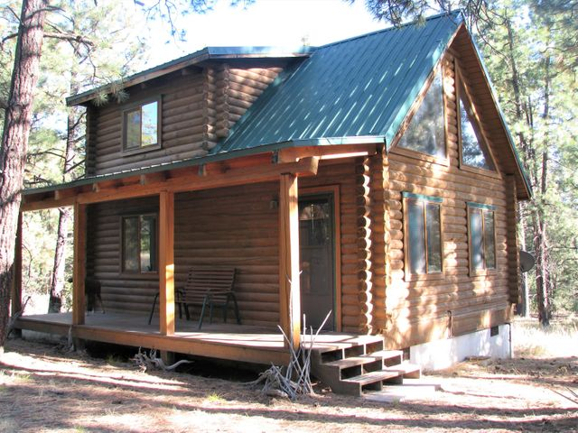 Did you ever dream of owning a cute little log cabin in the woods? Dream no longer..here it is. Sweet Log cabin in a fabulous location. Can't ask for a better place to get away. Level lot location with wonderous views, sit at your picnic table or up in your loft and be awe inspired by what you will see. Logs beautifully stacked together. Space so nicely arranged for a quaint and comfortable, restful time of mountain get away. Nice propane stove easily heats cabin. Great covered front porch for wildlife or star gazing. Close to fabulous hiking,  cross-country skiing, fishing, hot springs. Nice 45 minute drive to Bernallio or Los Alamos. You can now make that dream come true! Check it our before it's gone. What's there stays there, furnishings included in sale.
