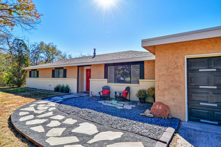 Meticulously maintained ranch-style home in Peralta, 4 bedrooms, 1 3/4  baths, refrigerated air, new water heater, 2 car  garage .2.77 acres, private well, irrigation well 4'' pipe, large metal building on concrete foundation.