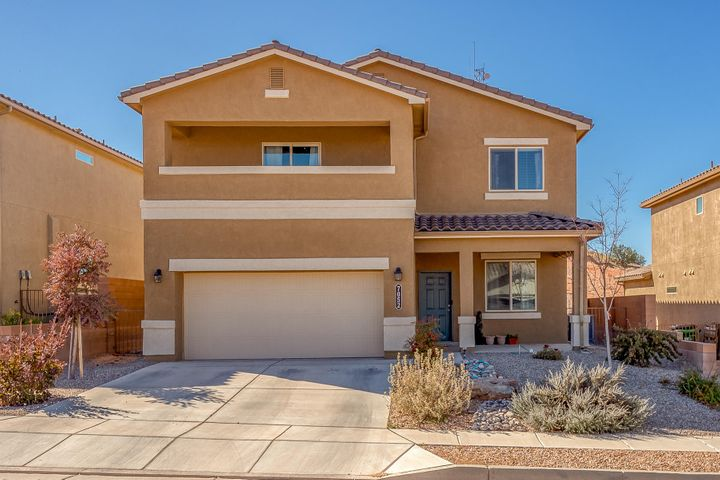 Beautiful two story home with balcony. Built in 2017! In Lomas Encantadas. Four bedrooms upstairs with a bonus room and dining room downstairs. Two living areas. One upstairs and one downstairs. Large pantry. Master bedroom has large walk in closet. Make this home yours!