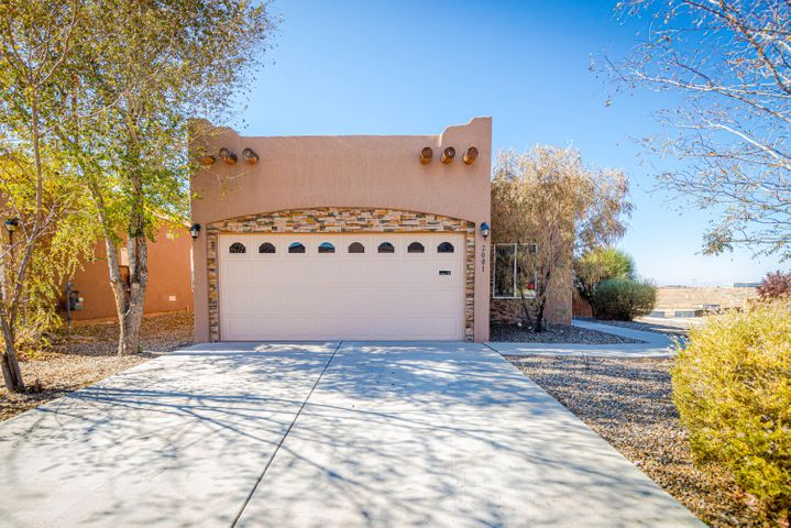 This charming Pueblo style home in Volterra Subdivision offers a very bright open floor plan. New fresh paint thruout!  Kitchen features granite counter tops, oak cabinets and recess lighting! Large master suite has separate bath and shower along with dual vanity that leads into the large walk-in closet.  Prime corner lot offers 180 degree views of the west side! Come bring your landscaping ideas and make this your home today!