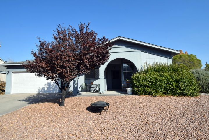ADORABLE 3 bedroom, 2 bath home in desirable Rio Rancho neighborhood on large corner lot!  Roof done in 2016, brand new water heater, new furnace and refrigerated air! (Sept 2017)   2 car garage.  Front landscape is taken care of by the association.  Close to park and walking trails.  Come see this great house!!