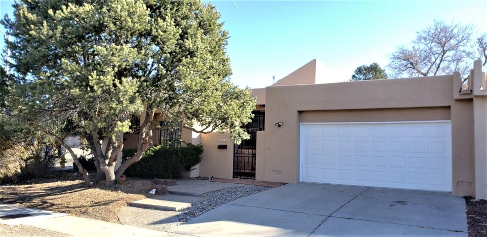 Lovely Town Home on a large Corner Lot! Great Floor Plan with Eat In Kitchen, large Formal Dining Room open Living Room with cozy Gas Stove and Vaulted Ceiling and Wet Bar. Lovely Patio areas in Front and Back, Detached Studio/Storage/Shop and oversized Garage. Solar System installed in 2011. Other updates include new pitched roof in 2017 and new Stucco just a couple months ago, Refrigerated Air. Sellers are offering $2,500 towards carpet or closing costs with acceptable offer.