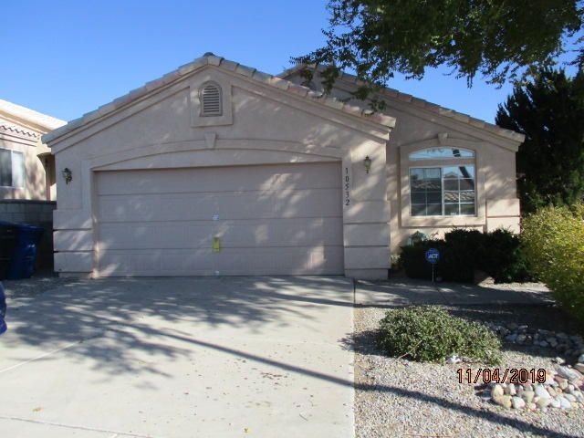 Spacious 3 bedroom 2 full bath home in a great location. Nice bay window. Master bedroom has garden tub and walk-in shower. Nice view of the Sandias from backyard.