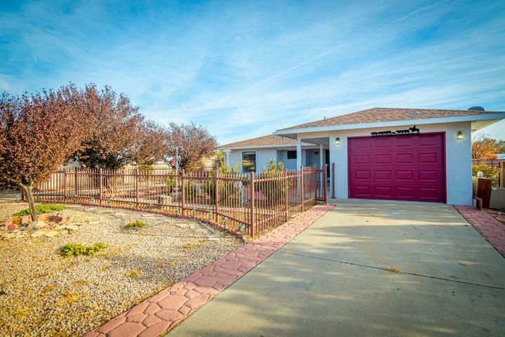 Adorable 3 bedroom, 2 bath home has just over 1200 square feet.  Enclosed front yard and walled backyard with grass, trees, storage shed, covered patio and backyard access for recreational vehicle parking. Close to city conveniences!