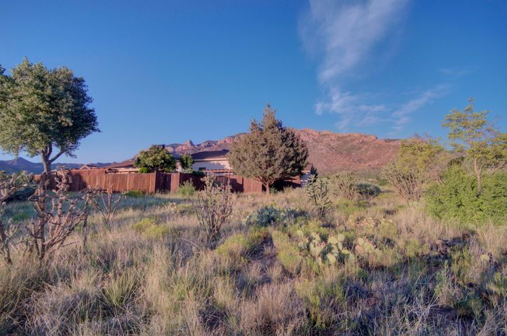 Great NEW PRICE !  $31,000 price improvement ! Looking for a special home to make your own in Sandia Heights?  Come see this one : 2655 sf 3 BR /3 full bath PLUS huge flex room on big 1.04 acre lot in prestigious neighborhood. Spacious ''great room'' has high ceiling & full-height custom fireplace built from rare petrified wood. Large 21.5' x19' office/den/ playroom has fireplace plus interior, and outside, entrances. Second bedroom is large with its own full bath & could be a SECOND MASTER bedroom. Cheerful sun room, covered patio , 2 car garage & 1 car carport make home very livable. The views from this lot are extraordinary.  Watch the sun set over distant Mt. Taylor & see the rosy glow on the Sandias! Don't miss this great opportunity. Price to sell fast. Open Sun Jan 26 1:00-3:00