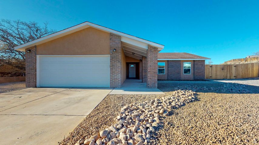 Come fall in love with this Vista Hills home! Complete with contemporary finishes, this 4 bedroom boasts stainless appliances, granite countertops, and master suite with walk-in shower. Located in the heart of Rio Rancho- only minutes away from schools, parks, great shopping, and dining. Call for your private showing and make this house your home today!
