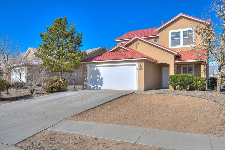 Welcome to this beautiful home in Los Milagros in the center of Rio Rancho. This home features 2,141 sq. ft. 3 bedroom, 3 full baths and a 2 car garage. Home sits on a oversized corner lot with plenty of room for side yard access and a covered patio in backyard. Plenty of room in this spacious kitchen loaded with cabinet storage, an island and large pantry! Two living areas in the home give you plenty of extra flex space for a in home gym, play room or home office. Amazing master suite with spacious bedroom, beautiful mountain views, master bathroom with separate shower and soaking tub, double sinks and a a oversized walk-in closet! Great location centered between all the main access roads in town and close to shopping, movies and many dining options.