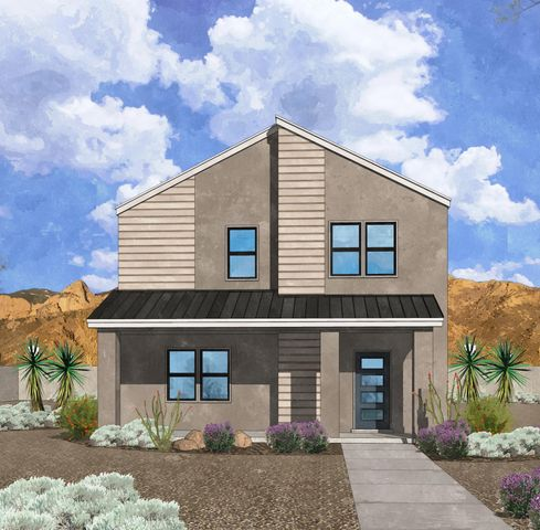 Westway Homes presents the Artisan Series, This floor plan, the Chimayo, is 2 story loaded with beautiful designer finishes. This home is a 3 bedroom, 2.5 bath with granite countertops and designer LVT flooring. Please visit the Westway Homes model in Mesa del Sol for more information.