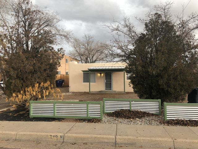 Amazingly Remodeled Duplex! Main Unit (1000 sq. ft.) has 3 Bedrooms and 1 Full Bath. Main Unit updates include stainless steel appliances, granite countertops, gas range, built in microwave, Kiva fireplace, mini-split heat and cool combo.  Unit 2 (375 sq. ft.) is 1 bedroom and 3/4 Bath (currently rented for $550.00 per month w/ all utilities paid by owner of main unit). Unit 2 boasts new appliances, (gas range, built in microwave and refrigerator all stainless steel.) Mini-split heating and cooling combo. Both have new roofing (TPO and metal), backyard access, and the entire building is newly stuccoed. Unit 1 and Unit 2 share a common laundry facility with dryer and washer. Ask your lender about using the rent to assist with qualification. MFA Not Available.