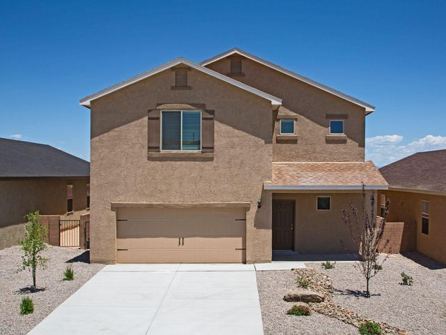 The Snowflake, by LGI Homes, is located within the picturesque community of Entrada at High Range.This beautiful, new two story home features an open floor plan, 4 bedrooms and 2.5 baths. This newhome comes with over $10,000 in upgrades including energy efficient kitchen appliances, a spaciousisland kitchen, custom wood cabinets, brushed nickel hardware and an attached two car garage. TheSnowflake showcases a master suite complete with a walk-in closet, as well as double sinks in bothbathrooms, an upstairs laundry room, a fully fenced backyard, covered patio and front yard landscaping.
