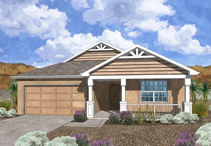 Westway Homes Introduces the Emerald in De La Reina! This is Belen's newest community and offers 5 great floor plans to accommodate all needs. The Emerald is a 3 bedroom, 2 bath, open floor plan. The living area is all tile and the kitchen features granite counter tops and GE appliances. The baths include tile on the floors and tile surround in the tub/shower with granite counter tops. Come be a part of Belen's newest community.