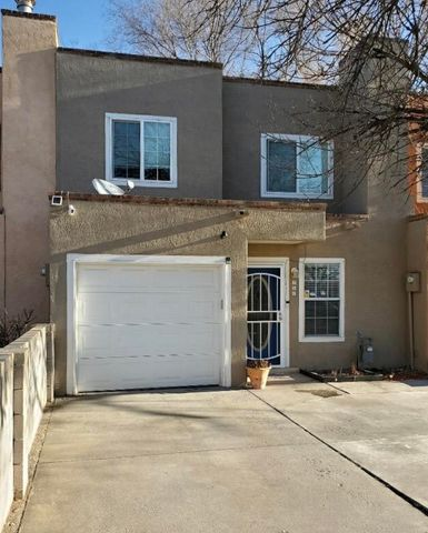 Located in the heart of Los Lunas. This Townhome has been well maintained with updates in the kitchen and bathroom. Beautiful tongue and groove wood ceiling in the living room and french doors to the backyard.