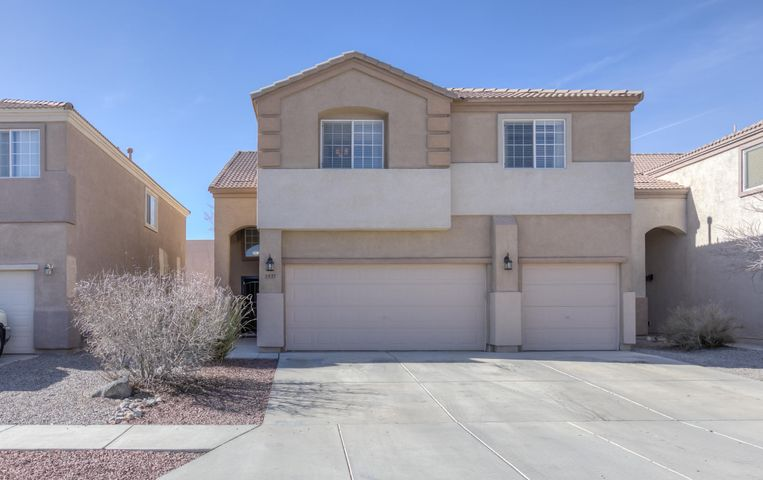 Lovely find in VVHS District~ This updated residence offers an awesome open living space and 5 large bedrooms! Amenities include wood look tile, kitchen has  an island, granite counters, Frigidaire Professional stainless steel appliances, refrigerated air & landscaped yard! New owner is sure to love the fabulous master retreat which is over generous in size! Master bath has a large garden tub with separate shower & two sinks. Enjoy the sunset from the master balcony area. 3 guest bedrooms are located upstairs along with 2 guest bathrooms. 1 bedroom and 3/4 bathroom is on the main level. Enormous laundry room is conveniently located upstairs & has a wash sink and closet!  Residence is conveniently located near the schools in the educational corridor, parks, convenient store & eateries.