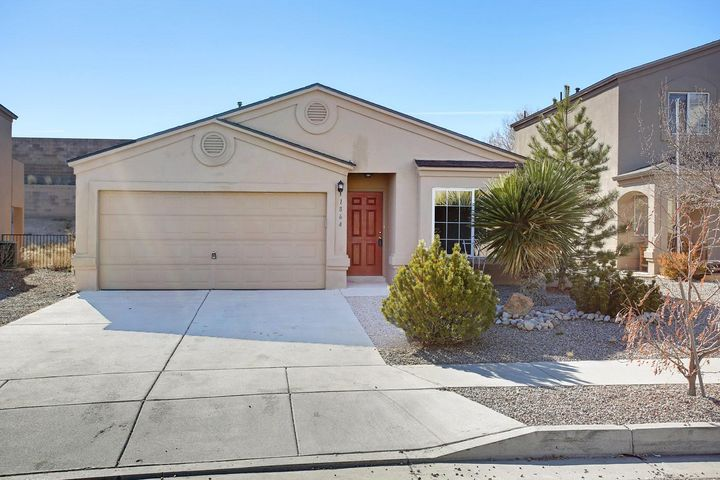 Come take a look at this MOVE IN READY home in the Sierra Norte Subdivion in Rio Rancho! 3 bedroom, 2 full bath, 2 car garage with Refrigerated air. This home is sure to fit your needs with NEW CARPET and PAINT. Great open floor plan. New range and Fridge. This won't last long, schedule your showing today!