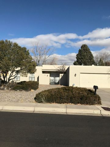 Excellent opportunity to own a freshly remodeled home in a great location off of Academy! 3 bed 2 bath home with many upgrades. Spacious hacienda style floor plan has back patio access from the master suite, dining and living areas. Come see today!